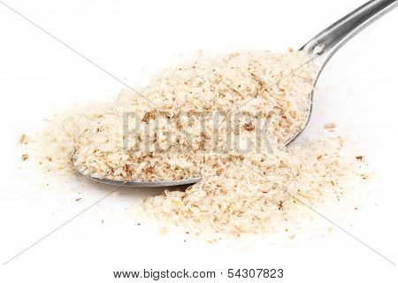 Medicinal Herbs Isabgul On A Spoon