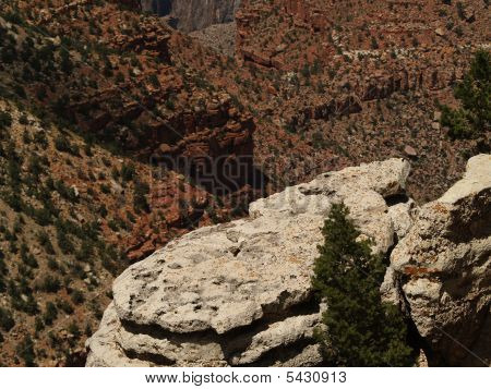 Rock Legders At The South Rim Of The Grand Canyon