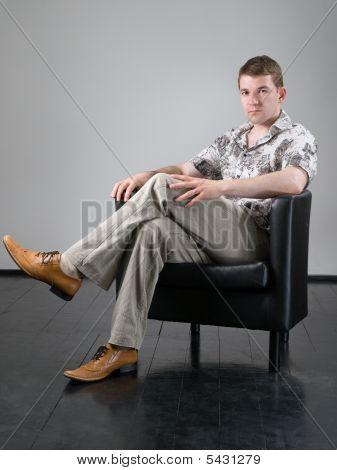 Sitzenden Mann