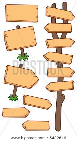 Wooden Roadsigns Collection