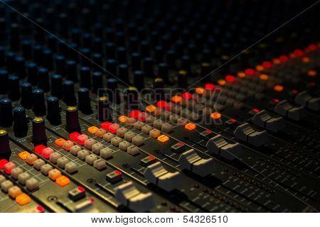 Music Mixer Closeup