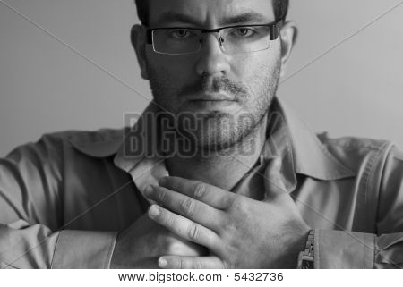 Man With Crossed Hands