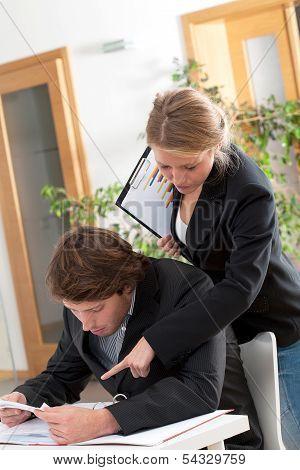 Helpful Female Workmate
