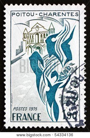 Postage Stamp France 1975 Poitou-charentes, Region Of France