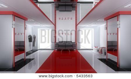 Interior Of A Modern Boutique