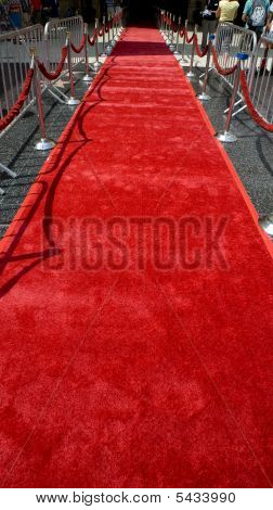 The red carpet rolled out for the arrival of important people at an event in Hollywood California poster