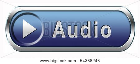 audio button or icon playing music