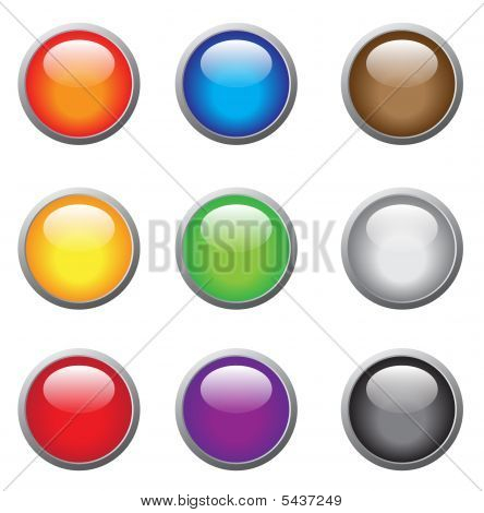 Glassy Buttons