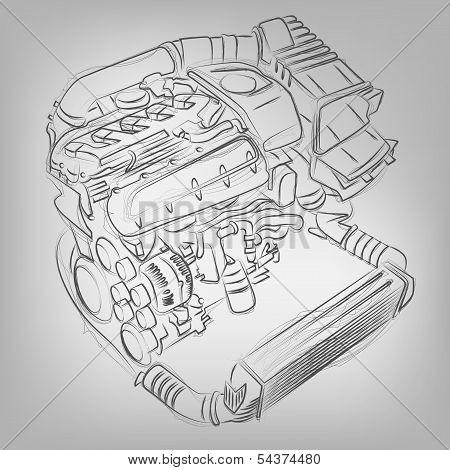 Vector Sketched Engine