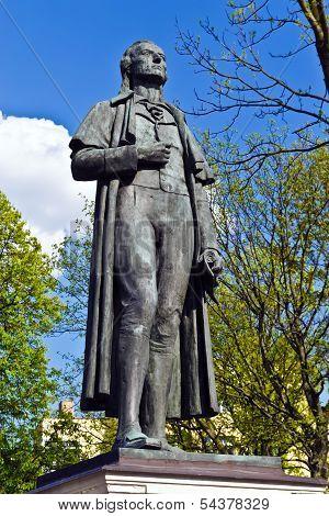 Monument To Friedrich Schiller. Kaliningrad (koenigsberg Before 1946), Russia
