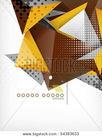 Geometric shape triangle abstract background poster