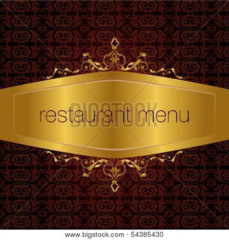 studied the traditional pattern of the eastern restaurant menu poster