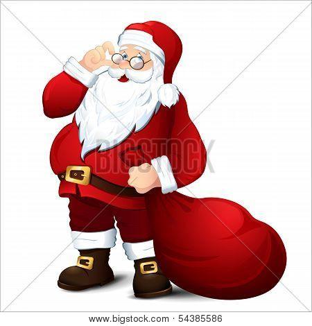 Isolated Santa Claus