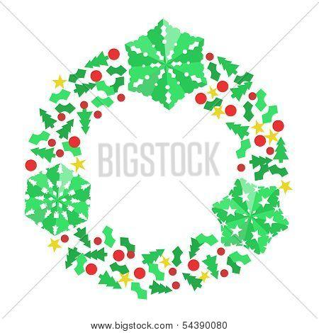 Paper Christmas Snowflake Wreath