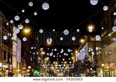 Oxford Street christmas lights 2013