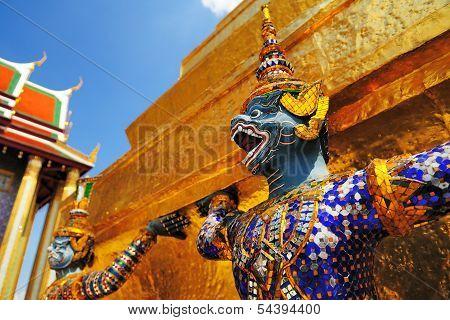 Guardian Of Wat Pra Keaw , Bangkok Thailand