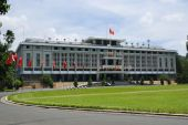 The Reuinification Palace in Ho Chi Minh City earlier known as the Independence Palace the palace of the president of South Vietnam during the Vietnam war. poster
