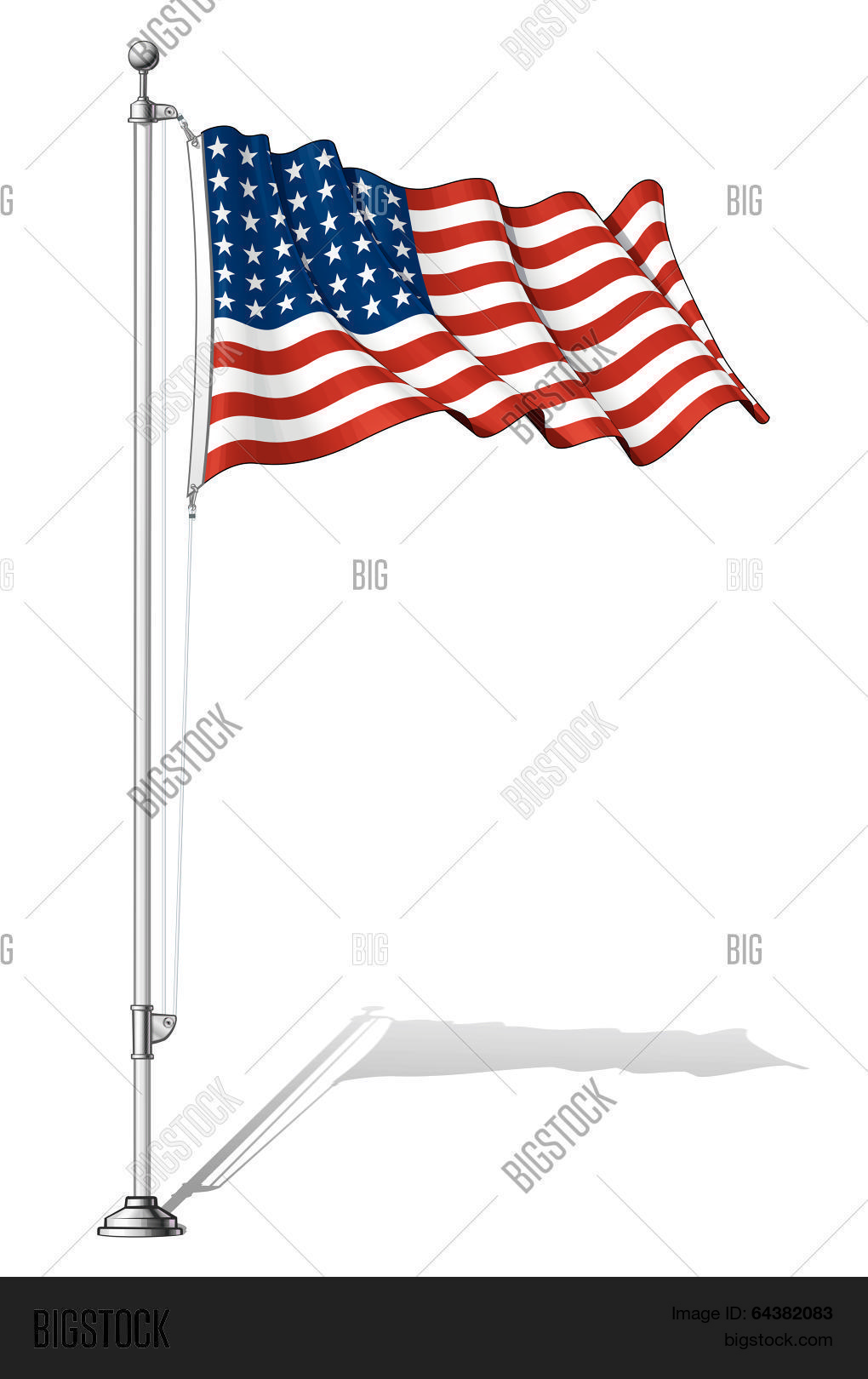 1b114d78d51 Vector Illustration of a waving 48 star US flag in a clean-cut and an aged  version fasten on a flag pole. This was the flag of the United States  during WWI ...