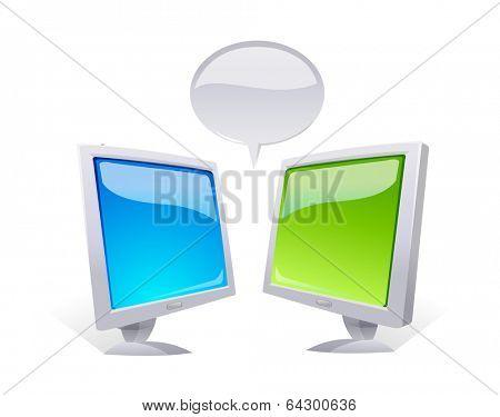 vector icon monitors