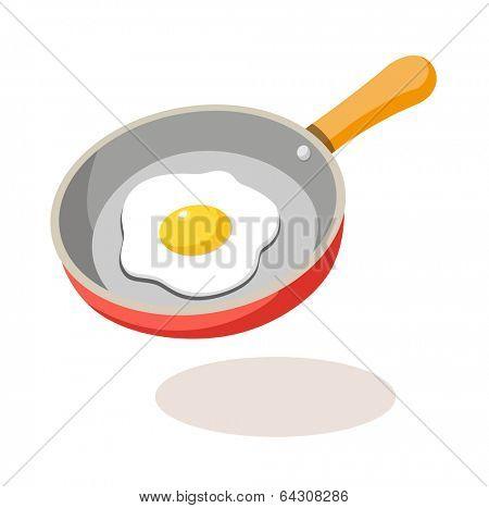 vector icon frying pan