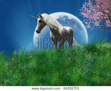 unicorn in the field.