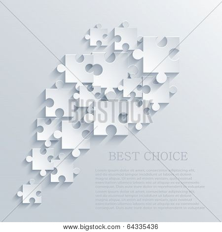 Vector modern puzzle icon. Eps 10 illustration