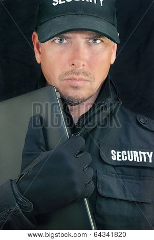 Security Holds Laptop