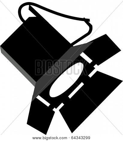 Vector illustration of a stage lighting
