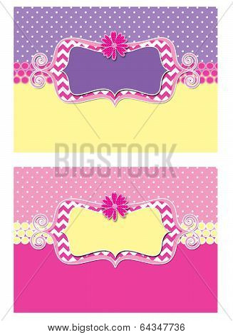 Daisy Flower Polka Dot Postcards