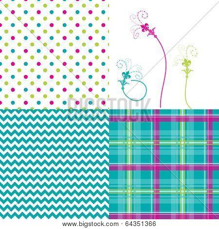 4-patterns-chevron-plaid-dots-flowers