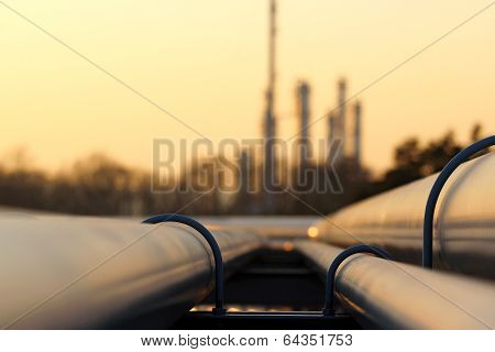 Pipe Line Transportation In Crude Oil Refinery