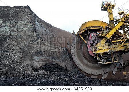 Detail Of Huge Coal Excavator Mining Wheel