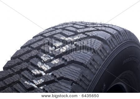 Close Up Of Winter Tire Tread