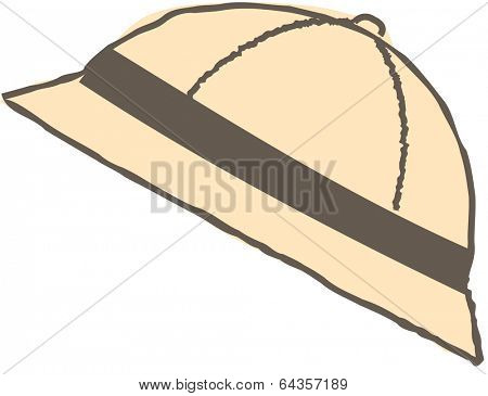 Vector illustration of pith helmet
