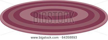 Vector illustration of round rug