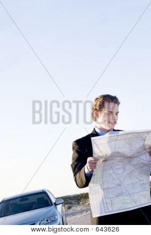 Businessman With Map