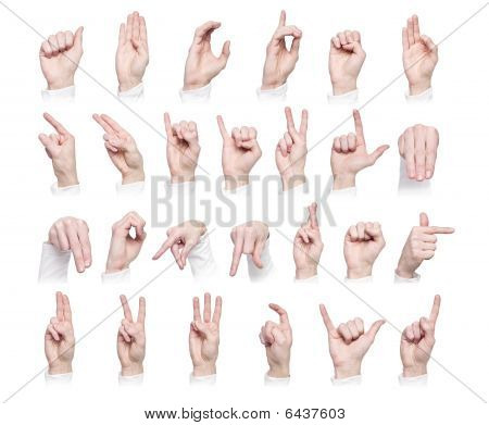 The Alphabet Formed By Sign Language