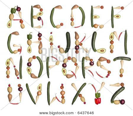 Das Alphabet von Gemüse gebildet