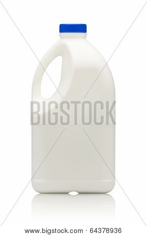 Gallon Of Milk Isolated On White Background