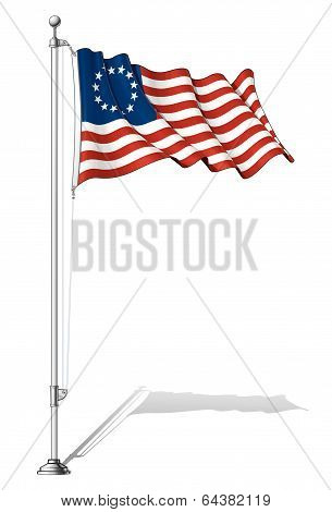 Flag Pole Usa Betsy Ross.
