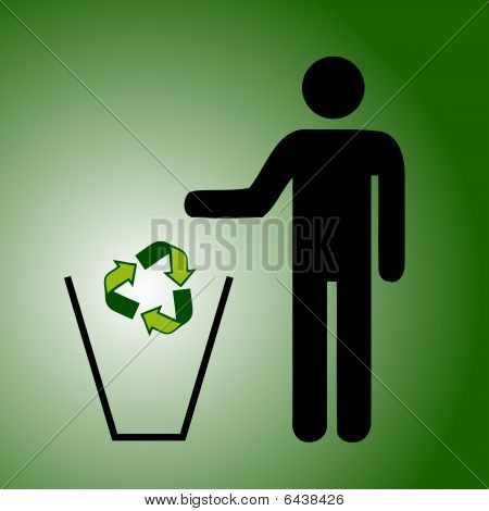 Recycle Trash Green