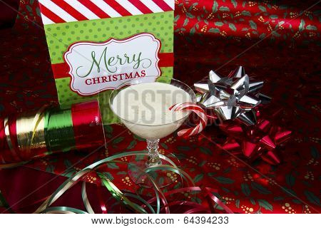 Eggnog with Wrapping Paper