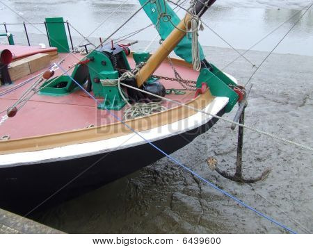 Bow of barge