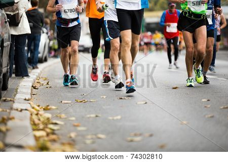 Marathon Running Race, People Feet