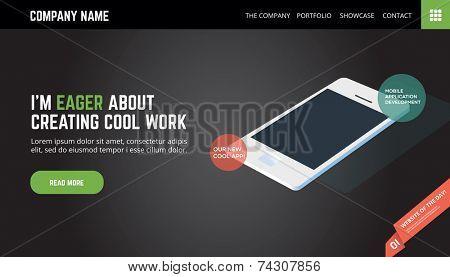 Landing page/web template