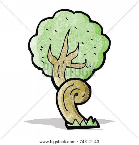 cartoon twisty tree