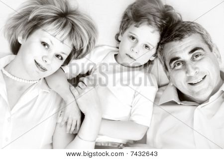 Happy Family - Father, Mother And Son