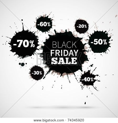Abstract Vector Illustration Black Friday Sale for your business artwork