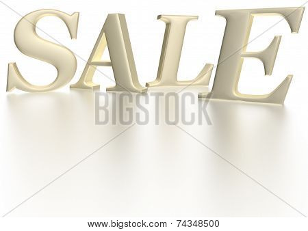 Glossy three-dimensional inscription Sale as a sign. poster
