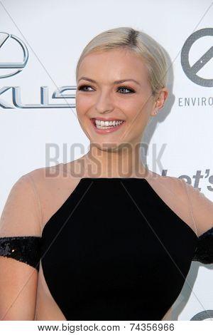 LOS ANGELES - OCT 18:  Francesca Eastwood at the 2014 Environmental Media Awards at Warner Brothers Studios on October 18, 2014 in Burbank, CA